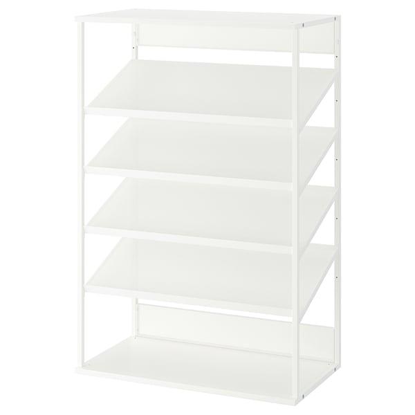 PLATSA Zapatero abierto, blanco, 80x40x120 cm