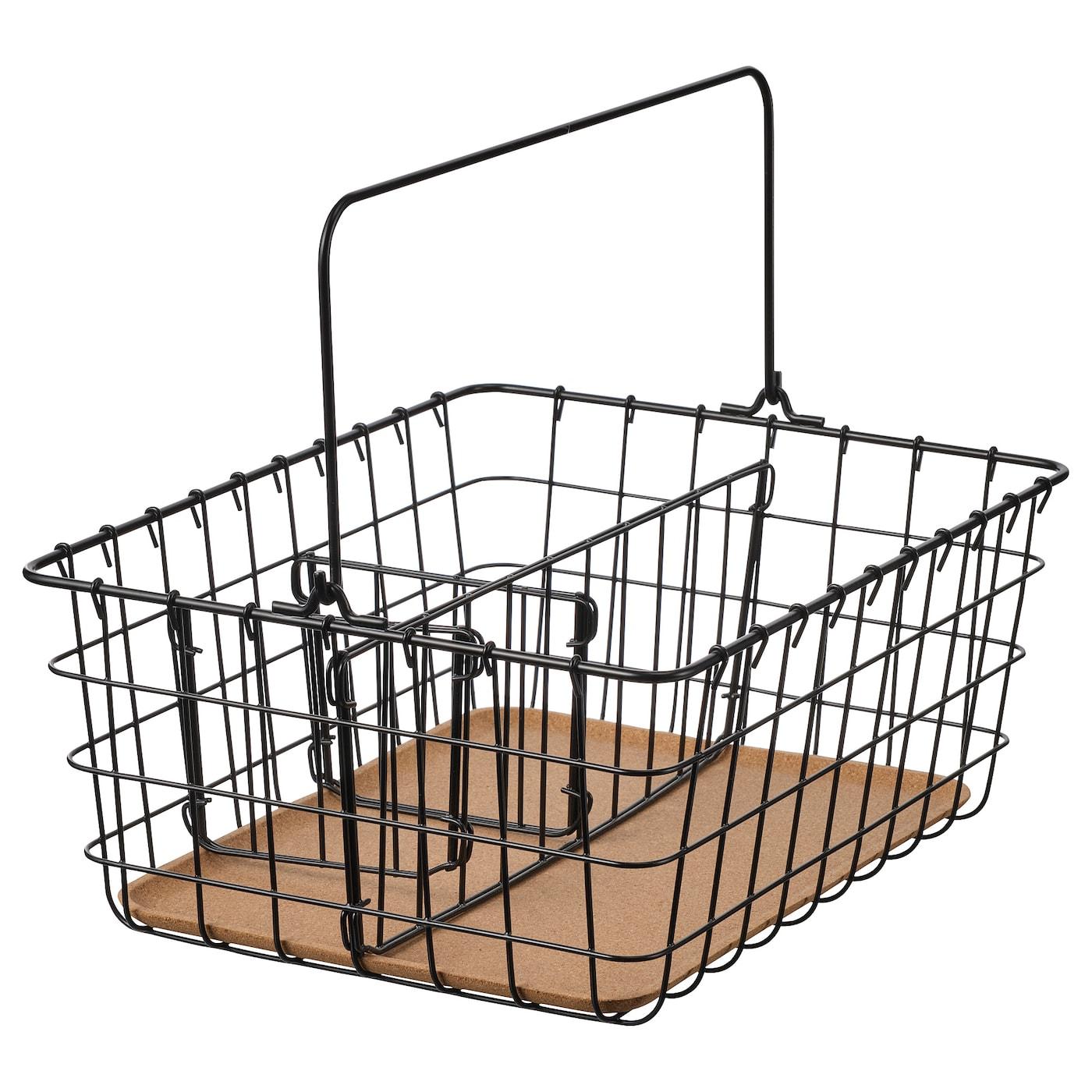 cesto de basura de hierro negro ikea