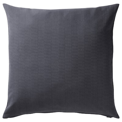 PLOMMONROS Funda de cojín, gris oscuro/gris, 50x50 cm