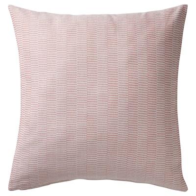 PLOMMONROS Funda de cojín, rojo/blanco, 50x50 cm