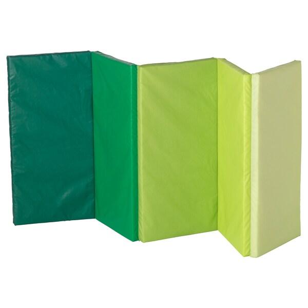 PLUFSIG alfombrilla gimnasia plegable verde 185 cm 78 cm 3.2 cm