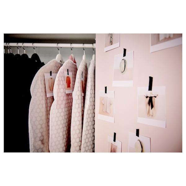 PLURING Funda para ropa, blanco transparente