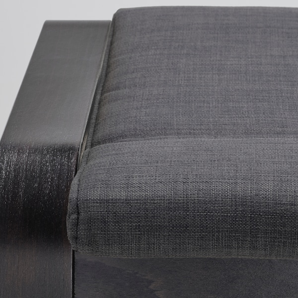 POÄNG Reposapiés, negro-marrón/Skiftebo gris oscuro