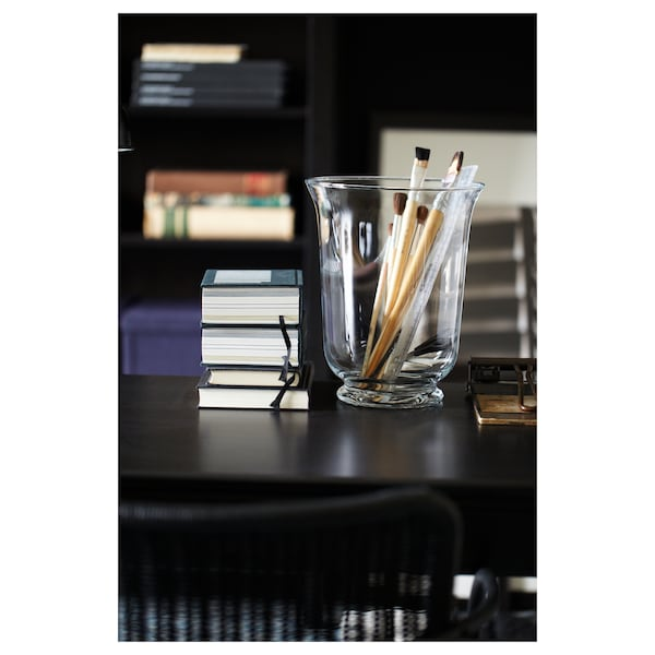 POMP Florero/farol, vidrio incoloro, 28 cm
