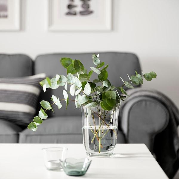 POMP Florero/farol, vidrio incoloro, 18 cm