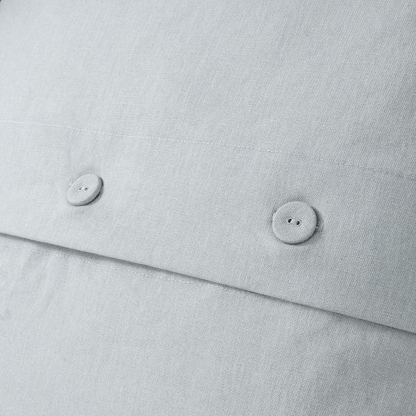 PRAKTBRÄCKA Cojín, blanco/gris claro, 50x50 cm