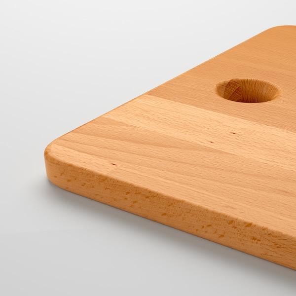 PROPPMÄTT Tabla de cortar, haya, 45x28 cm