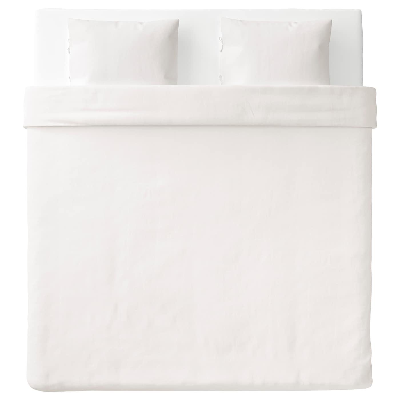 PUDERVIVA Funda nórd y 2 fundas almohada Blanco 260 x 220/50 x 60