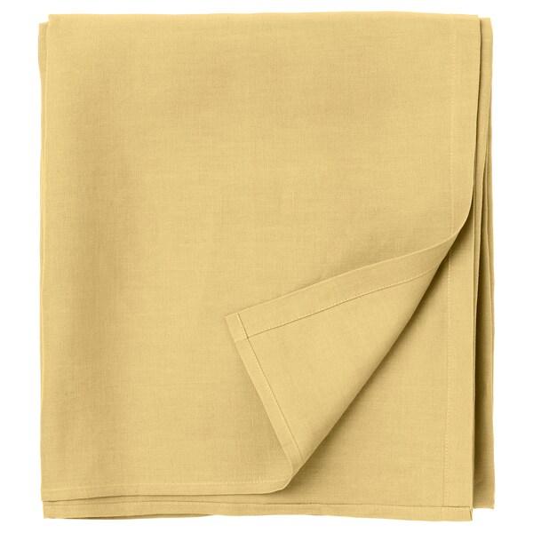 PUDERVIVA Sábana, amarillo claro, 240x260 cm