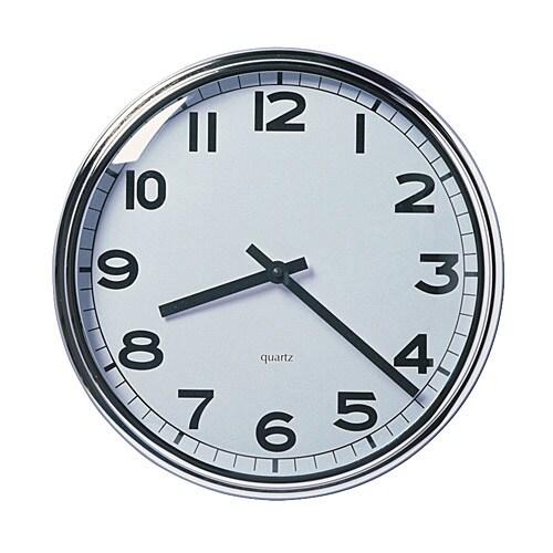 PUGG Reloj de pared, cromado diámetro: 32 cm