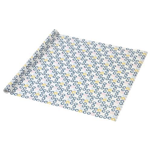 PURKEN rollo papel de regalo con círculos 3.0 m 0.7 m 2.10 m² 1 unidades 3 m