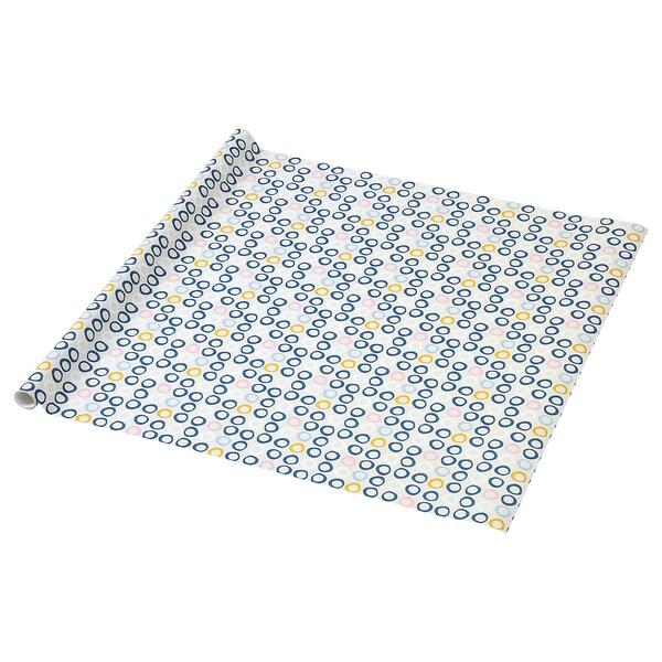 PURKEN Rollo papel de regalo con círculos 3.0x0.7 m