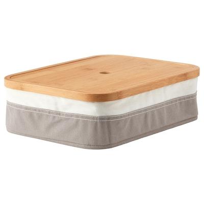 RABBLA Caja con compartimentos, 25x35x10 cm