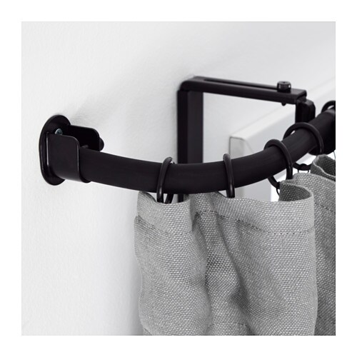 R cka conector esquina barra cortina negro ikea for Barra cortina ikea