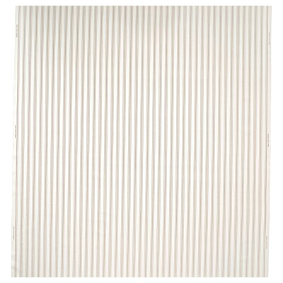 RADGRÄS Tela por metros, blanco/beige rayas, 150 cm