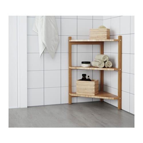 R grund estanter a esquina para ba o ikea for Estanteria bano ikea