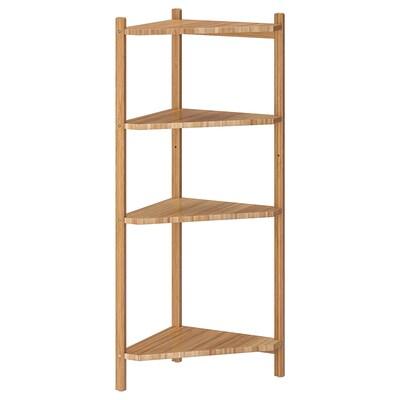 RÅGRUND Estantería de esquina, pared, bambú, 34x99 cm
