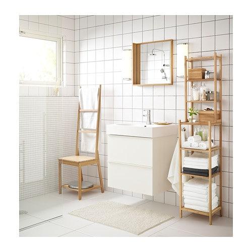 RÅGRUND - Estantería, bambú, 33x28x163 cm. - Artículo en función / detalle