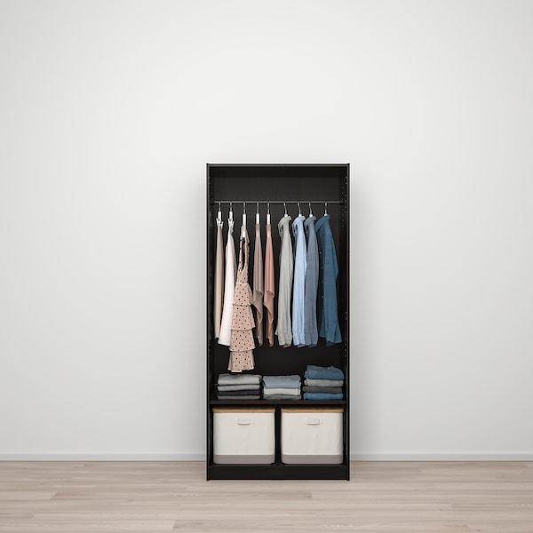 armario ropero 2 puertas negro ikea