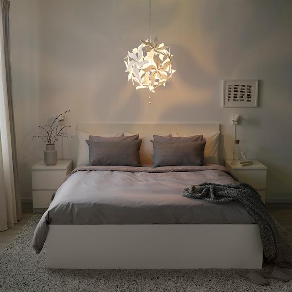 RAMSELE Lámpara de techo, flor/blanco, 43 cm