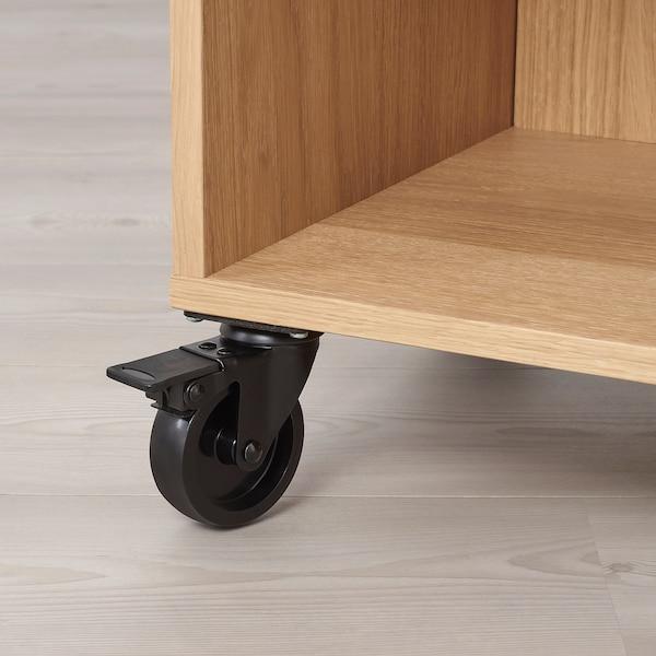 RÅVAROR Estantería+ruedas, chapa roble, 67x69 cm