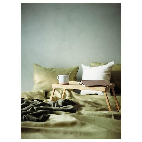 RESGODS bandeja de cama bambú 52 cm 29 cm 25.5 cm