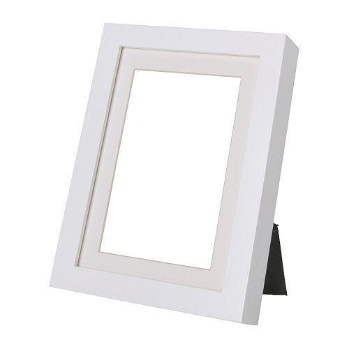 RIBBA Marco, blanco Ancho: 15 cm Altura: 20 cm ancho de lámina: 13 cm alto de lámina: 18 cm Medida interior passepartout 8: 9 cm Medida interior passepartout H: 14 cm