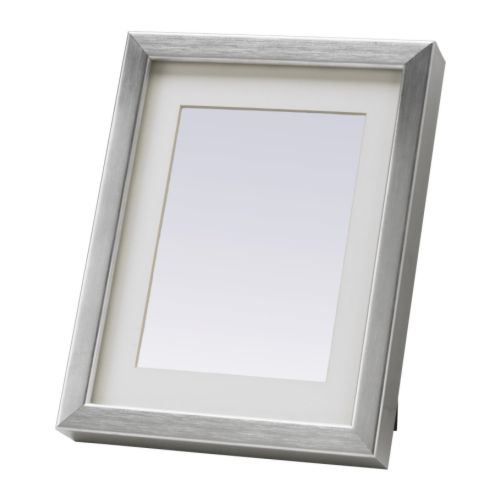 RIBBA Marco, color de aluminio Ancho: 20 cm Altura: 26 cm ancho de lámina: 18 cm alto de lámina: 24 cm Medida interior passepartout 8: 12 cm Medida interior passepartout H: 17 cm