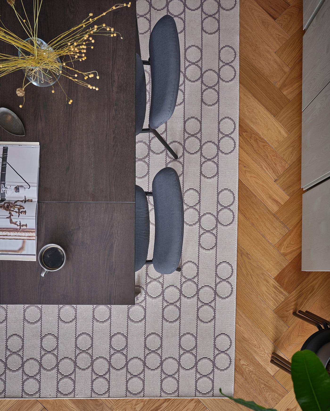 RINDSHOLM Alfombra, beige IKEA
