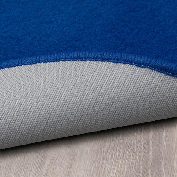 RISGÅRDE Alfombra, pelo corto, azul IKEA
