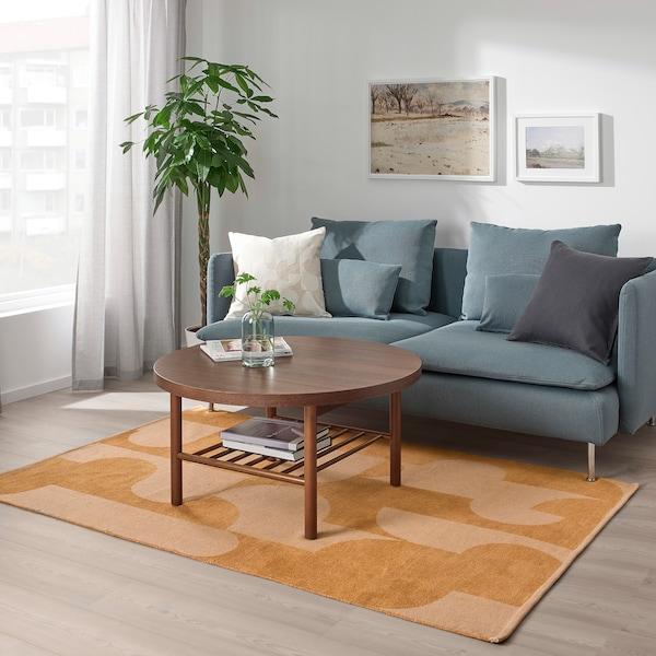 RÖDASK Alfombra, marrón claro, 133x195 cm