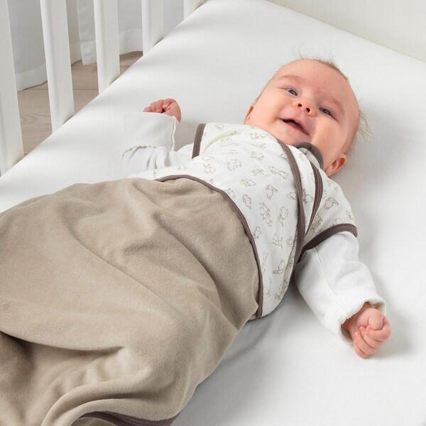 RÖDHAKE Saco de dormir, beige/motivo conejo, 0-6