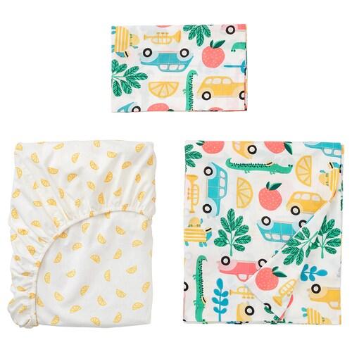RÖRANDE ropa de cuna, 3 piezas multicolor 60 cm 120 cm 125 cm 110 cm 55 cm 35 cm 60 cm 120 cm