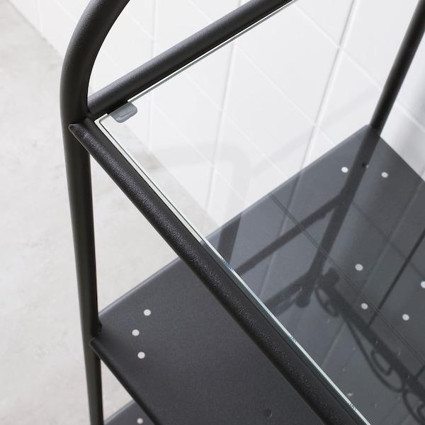 RÖNNSKÄR Estantería, negro, 42x176 cm