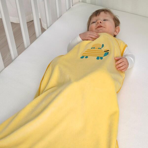 RÖRANDE Saco de dormir, tortuga/amarillo