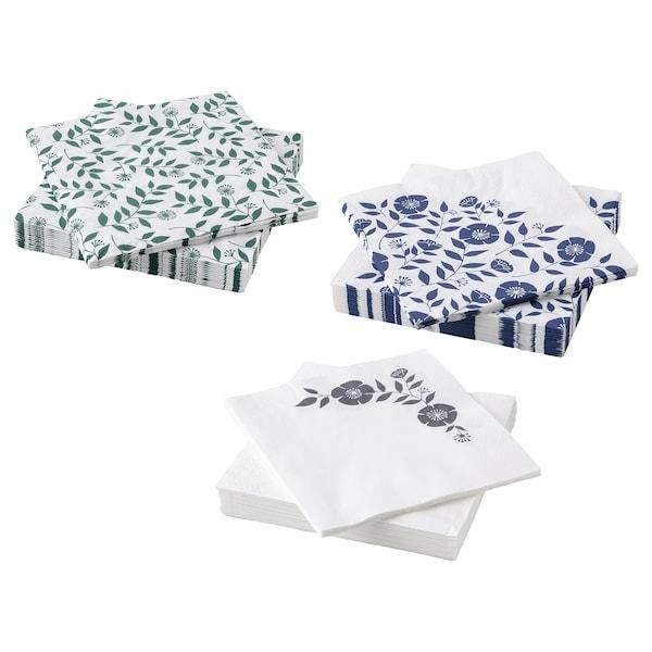 ROSENHÄTTA Servilleta de papel, colores variados, 33x33 cm
