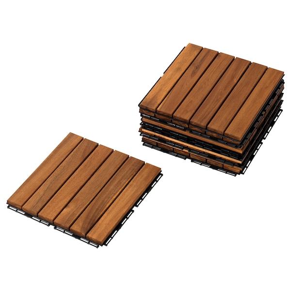 RUNNEN Suelo exterior / suelo terraza, marrón claro, 0.81 m²