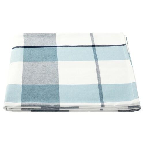 RUTIG mantel a cuadros azul 240 cm 145 cm