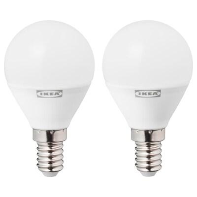 RYET Bombilla LED E14 470 lúmenes, forma de globo blanco ópalo