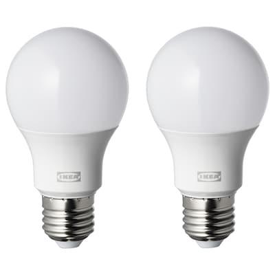 RYET Bombilla LED E27 806 lúmenes, forma de globo blanco ópalo, 4000 K