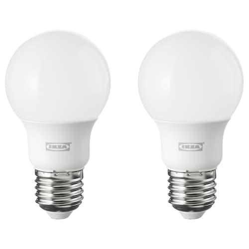 RYET bombilla LED E27 600 lúmenes forma de globo blanco ópalo 2700 K 600 lm 6.0 W 2 unidades