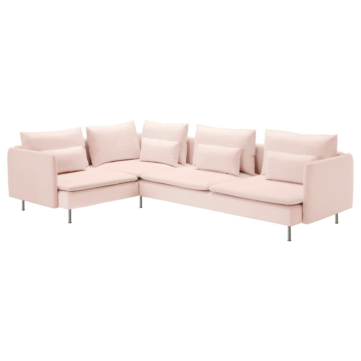 s derhamn sof 4 plazas esquina samsta rosa claro 291 x 198 cm ikea. Black Bedroom Furniture Sets. Home Design Ideas