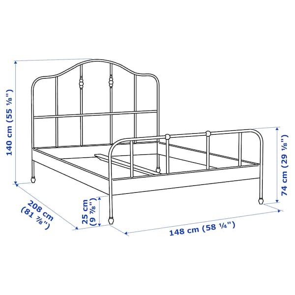 SAGSTUA Estructura de cama, negro/Luröy, 140x200 cm