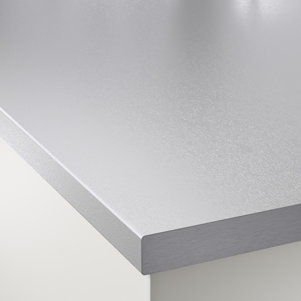 SÄLJAN Encimera a medida, efecto aluminio/laminado, 10-45x3.8 cm