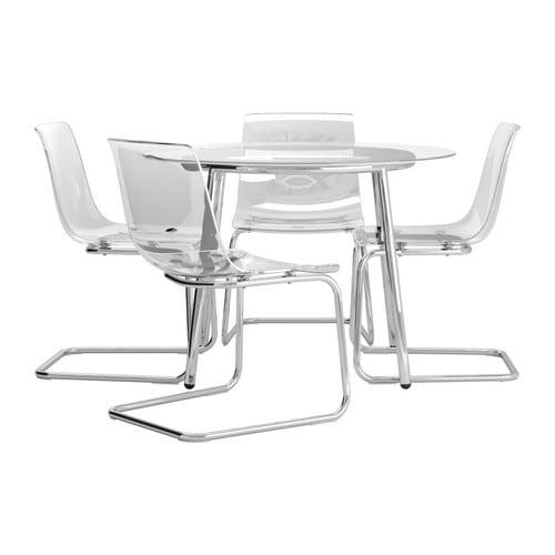 Salmi tobias mesa con 4 sillas ikea - Mesa transparente ikea ...