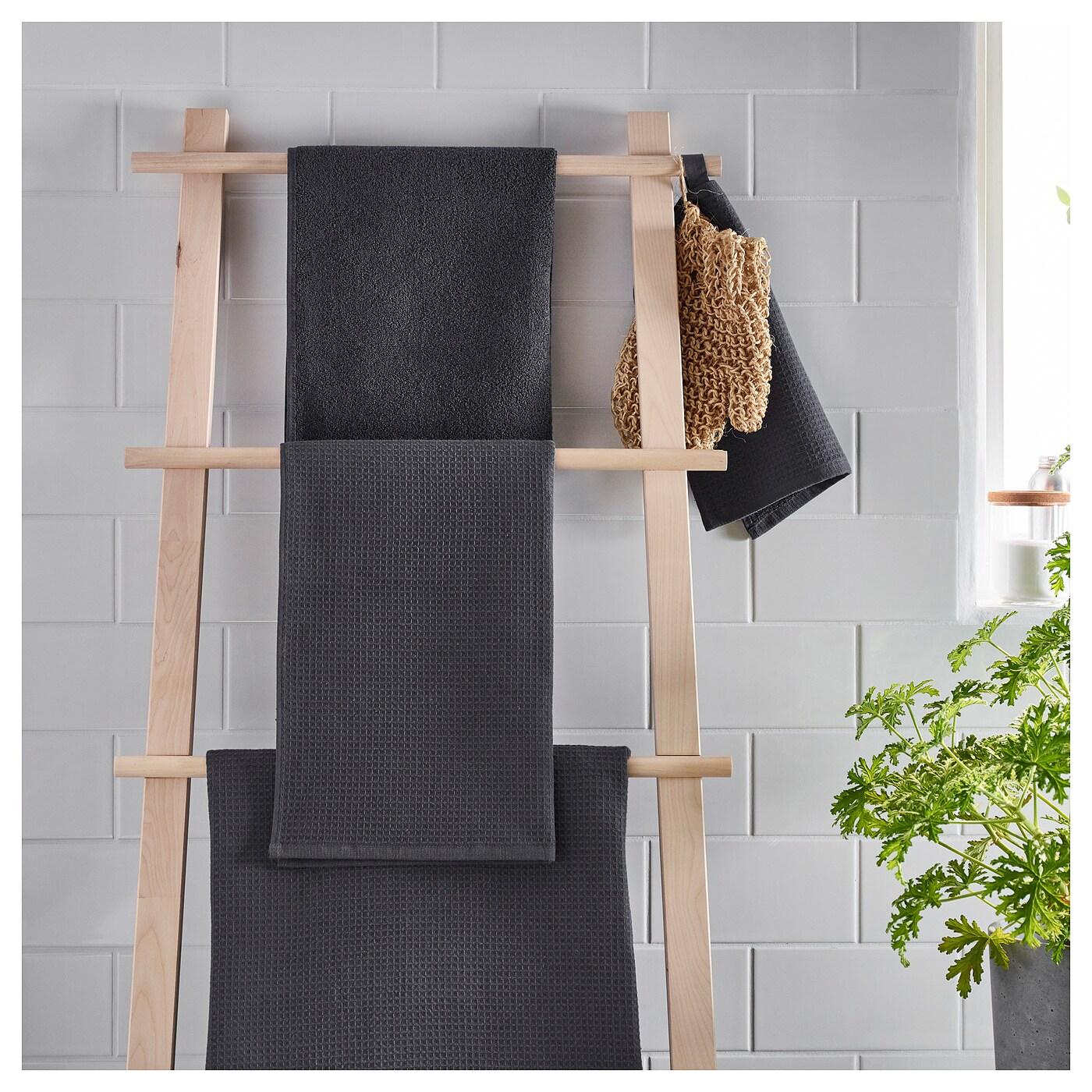 Salviken toalla de ba o antracita 70 x 140 cm ikea - Toallas de bano ikea ...