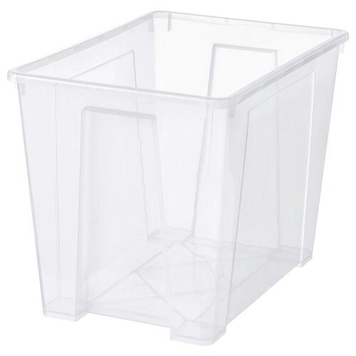 SAMLA caja transparente 56 cm 39 cm 42 cm 65 l