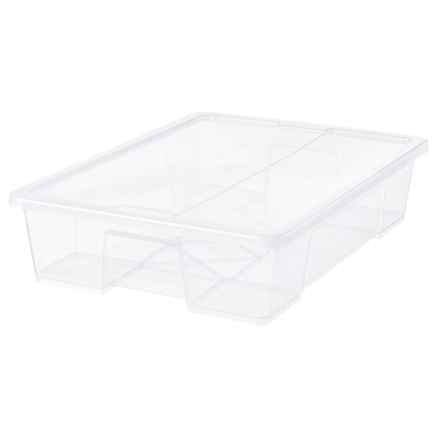 SAMLA Caja con tapa transparente 79x57x18 cm55 l