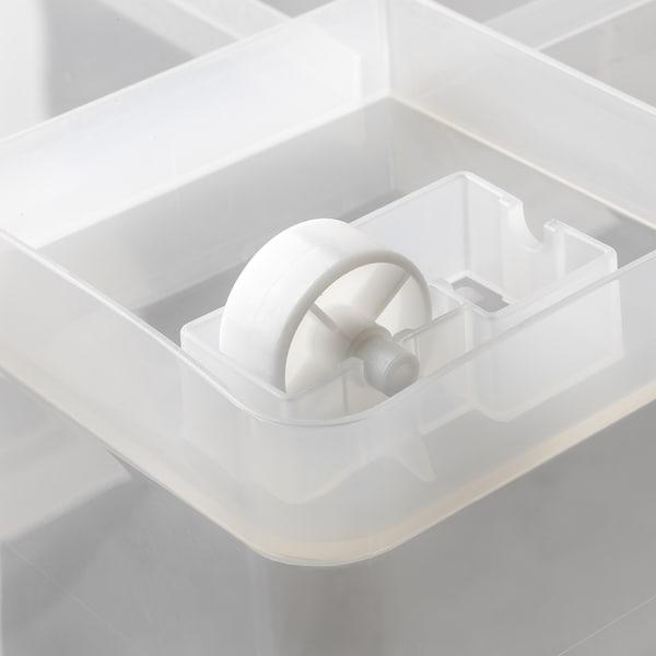 SAMLA Caja con tapa, transparente, 79x57x43 cm/130 l