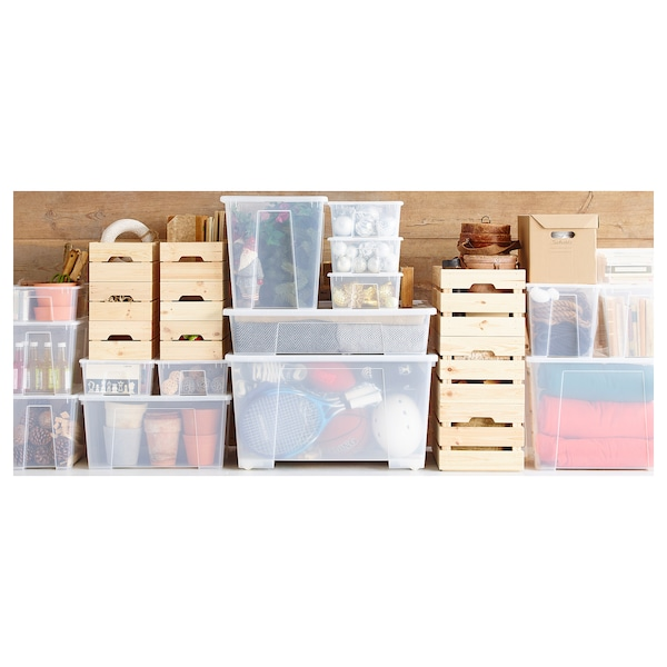 SAMLA tapa para caja de 45 o 65 litros transparente 57 cm 39 cm